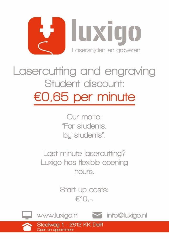 Luxigo   Luxigo Studentdiscount Aangepast   Eenvoudig, goedkoop en een snelle levering in en rondom Delft!