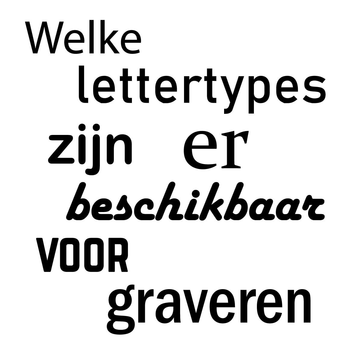 Luxigo - Welke lettertypes zijn er beschikbaar voor graveren